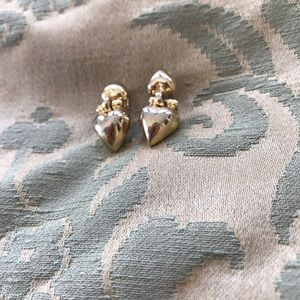 Givenchy Jewelry - Givenchy Gold Brass Heart Clip On Earrings Jewelry